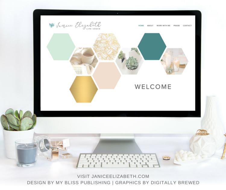 Janice elizabeth branding website design my bliss for Publish my design